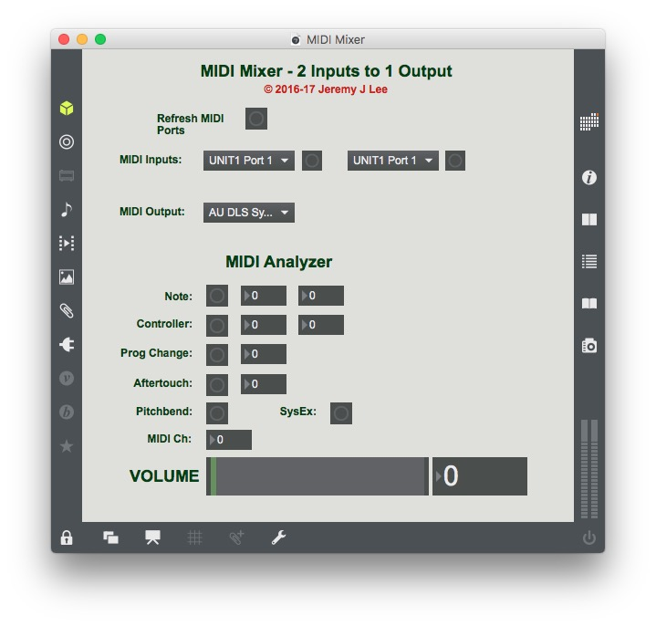 MIDI Mixer & Monitor - Jeremy J Lee